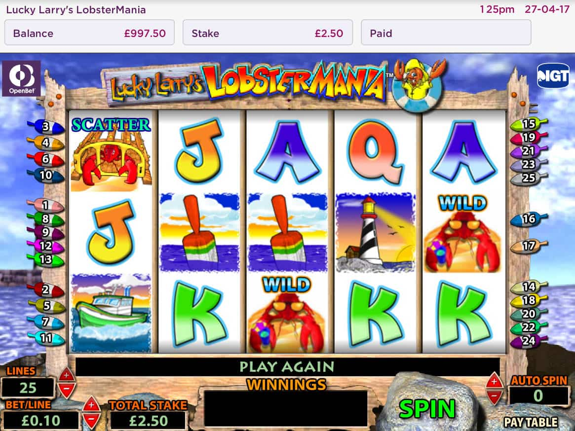 Play IGT's free Lobstermania slot machine without downloading