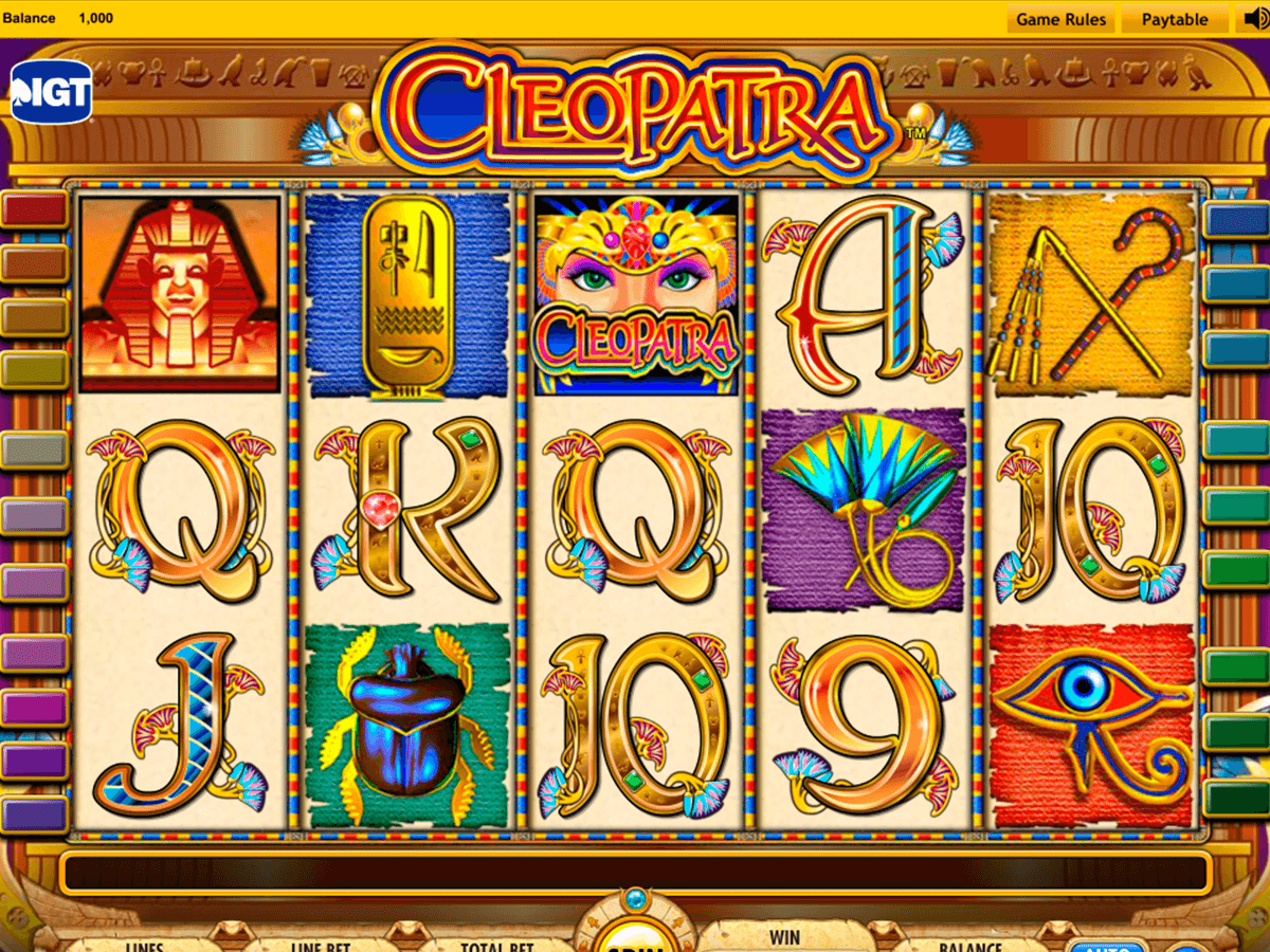 Play the Cleopatra Slot Machine without downloading